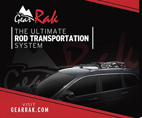 GearRAK Ultimate Low Profile Fishing Rod Transportation System for Car SUV roof Racks