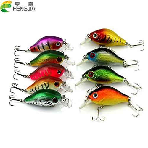 Hengjia 9pcs 55cm 8g hard diving crankbaits wobbler pike carp trout perch catfish fishing baits