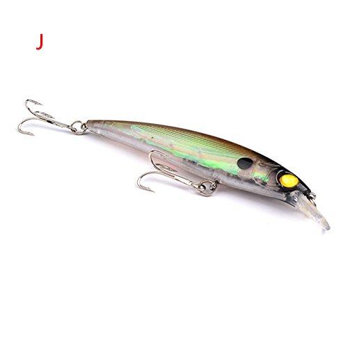 Wingbind 1pcs ABS Minnow Fishing Bass Lures Diving Crankbait Treble Hooks Baits 11cm 134g10 color