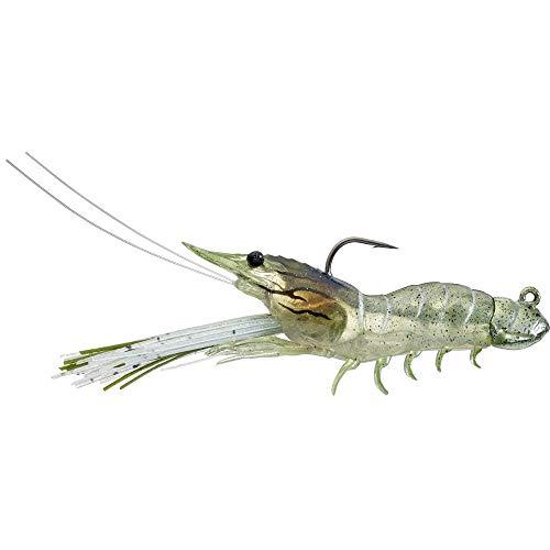 LiveTarget Fleeing Shrimp Soft Plastic Jig 3 12 Length 38 oz Variable Depth Grass Shrimp Package of 1