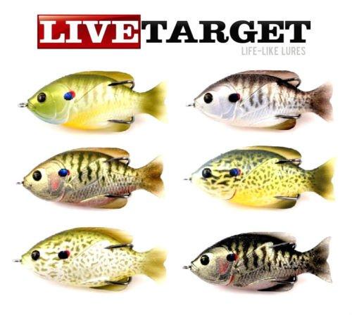 LiveTarget Sunfish Hollow Body Fishing Bait with Topwater Depth 40 Hook