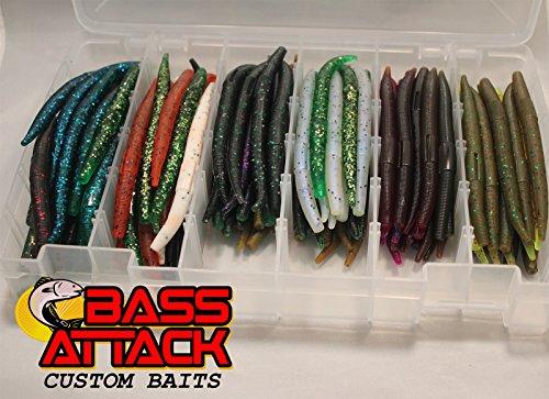 200 Cnt 4 Bassattack Senko Stick Worm Assortment Bass Lures 20 packs of 10