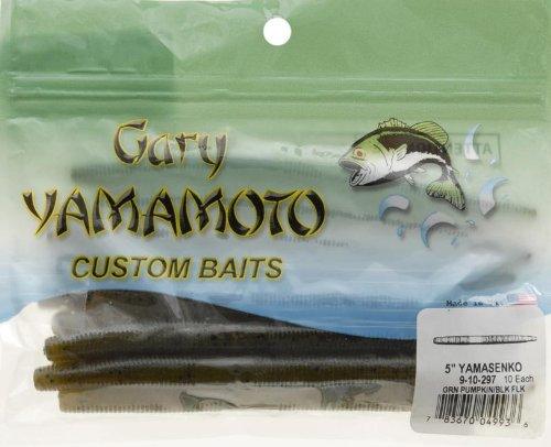 Yamamoto 9-10-297 Senko 5-Inch 10-Pack Green-Pum-Packin WBlack