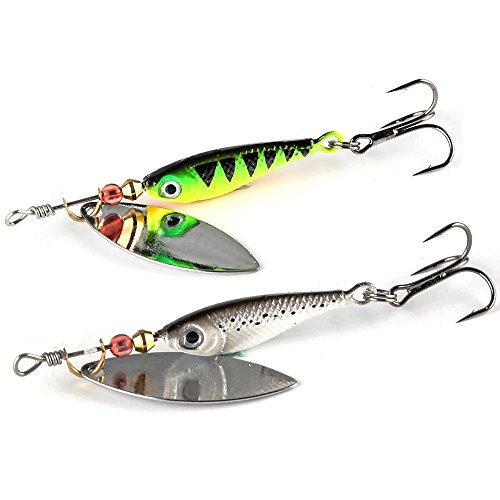 JOHNCOO 2 3 4 Spinner Bait Metal Spoon Fishing Lure Pack of 4 3 334053oz