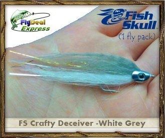 FISH-SKULL CRAFTY DECEIVER WHITEGREY - Streamer 1-fly