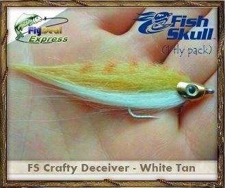 FISH-SKULL CRAFTY DECEIVER WHITETAN - Streamer 1-fly