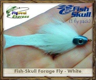 FISH-SKULL FORAGE FLY WHITE - Streamer 1-fly