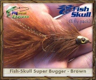 FISH-SKULL SUPER BUGGER BROWN - Streamer 1-fly