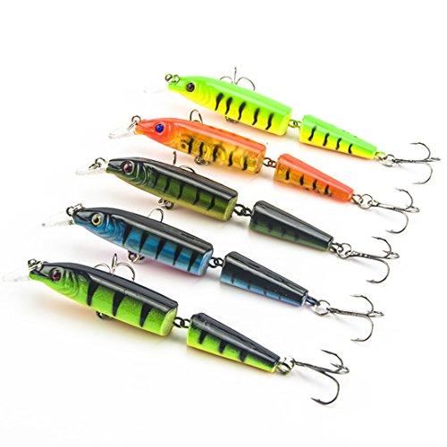 Kredy 5pcslot 105cm 413 3D Fishing Eyes Laser Line Hard Minnow Baits Life-like Swimbait Fishing Lures Bass Crankbait Tackle for PikesBassTrout WalleyeRedfish Catfish  Grouper  Luce