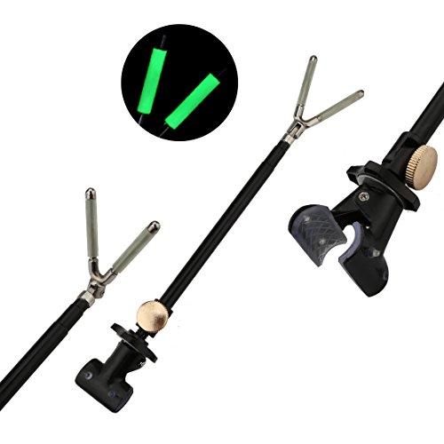 A-SZCXTOP Fishing Rod Bracket Rear Hanger Rod Luminous Non-slip 40cm Adjustable Telescoping Stable Turret Antenna Fishing Tool For Fishing Enthusiasts