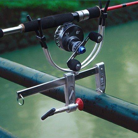 Raft Fishing Sea Fishing Rod Bracket Boat Fishing Pole Mount Aluminium Alloy Clamp Clip Adjustable Stander Holder Fishing Tackle Tool