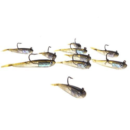 Docooler 10Pcs 70mm 6g Soft Bait Fishing Lures Lead Jig Head Fish Tackle Sharp Hook