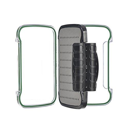 FISHINGSIR Fly Fishing Box Waterproof Pastic Clear Flies Case Storage Fly Fishing Tackle Box