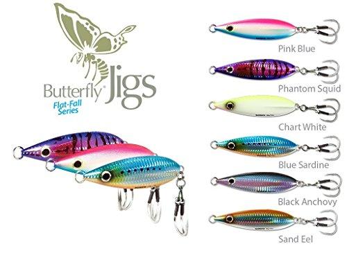 Shimano Butterfly Flat-Fall Jigs- Pack of 2 Blue Sardine 100 Gram
