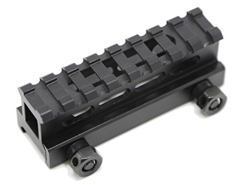 TXTactical 1 Inch High 8-slot Light Weight Picatinny Rail Riser Mount Hollow Out See Through Design 3 Oz