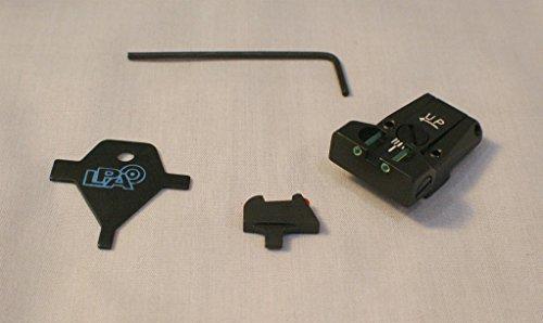 LPA Sight Set Fully Adjustable Fiber Optic COLT Gov't 1911-A1 TTF45CT