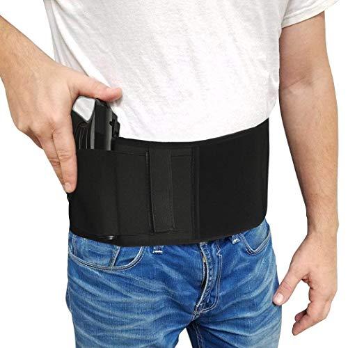 Jaylaka Belly Band Gun Holster Concealed Carry PistolHandgun Magazine Pocket G 2 Taurus iWB Glock 17 19 21 22 23 26 36 43Sig P238 Smith Wesson Bodyguard 380 38Ruger LCP LC9m19119mmM9 etc
