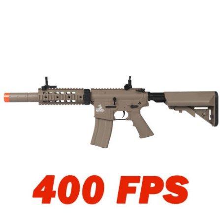LT-15T M4 SD Metal Gear Airsoft Rifle Gun AEG FullSemi Automatic Tan 400 FPS