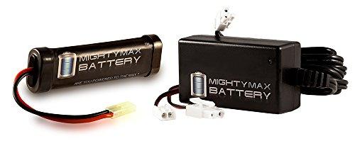 96V 1600mAh Flat NiMH Replaces AK M4 CQB Stubby AEG  9V Charger - Mighty Max Battery brand product