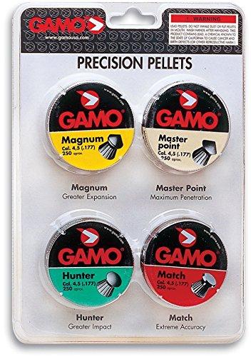 Gamo 632092754 Performance Airgun Pellets Combo Pack 1000 Assorted 177 Caliber