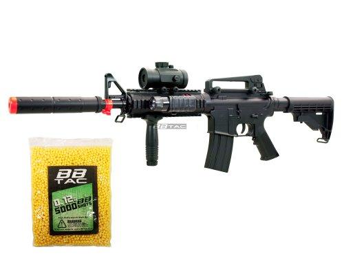 BBTac BT-M83 LPEG Full Auto Electric Power 250 FPS AEG Airsoft Gun with 5000 12g BBs 6mm Package