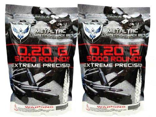MetalTac 02g BB 10000 Round Bag Airsoft 6mm BB Perfect Grade