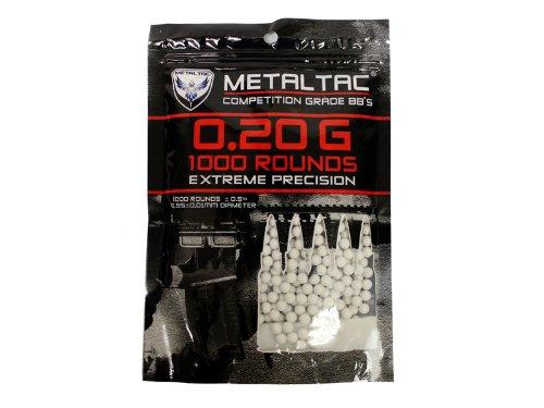 MetalTac Airsoft BBs 020 g 1000 Round 6mm BBs Airsoft Pellets for airsoft bb guns