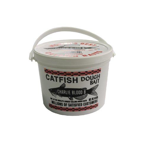 Catfish Charlies CB-6-45 Dough Bait Blood Bucket White 45-Ounce
