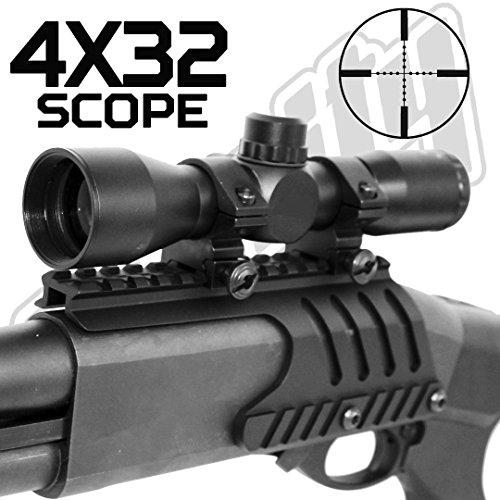 Trinity 4x32 Shotgun Scope Mil-dot Reticle Fits Remington 870 single rail mount