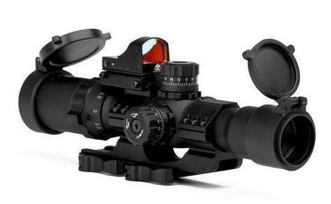 Trinity Force 1-4x28 Assault Series RiflecopeMil-Dot Reticle