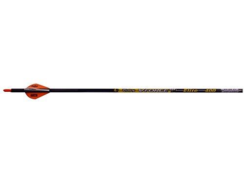 Victory Archery 001 400 Fletched VFORCE Elite Arrows Pack of 6 Black