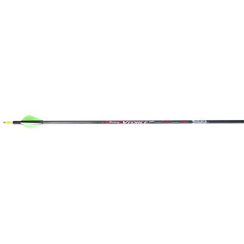 Victory Archery VForce Sport Arrows with Raptor Vanes Pack of 6 Black 500