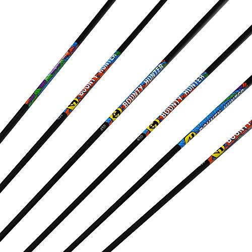 ZSHJGJR 32 Inch OD57mm Pure Carbon Arrow Shaft Spine 450 Practice Archery Target Carbon Shaft for Compound Bow Hunting