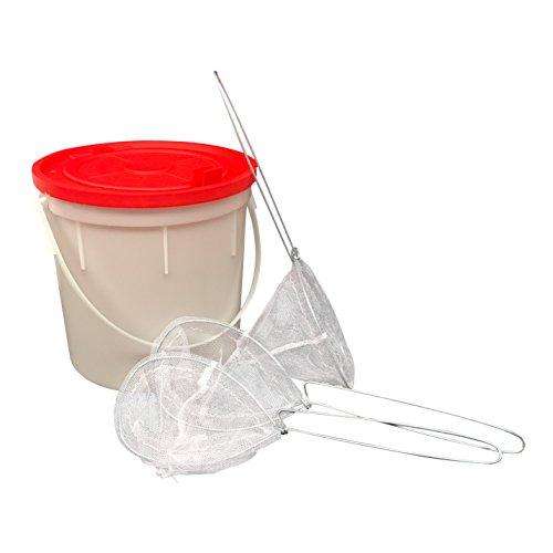 Bait Bucket - Fishing Bait Bucket with 3 Minnow Bait Fish Nets