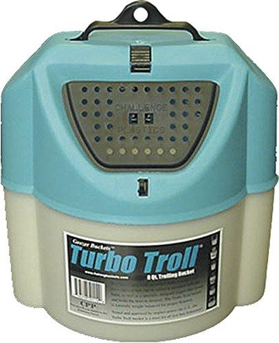 Challenge 50114 Turbo Troll Bait Bucket 8 Quart White
