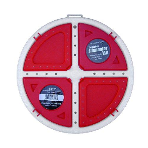 Challenge Plastics 5 Gal Bait Bucket Lid - 3 Tackle Compartments