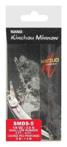 Matzuo Nano Kinchou Minnow Bait 2-Inch Silver Black Back