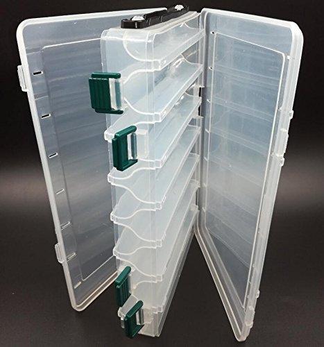 SLMOZKA Double Sided Tackle Box Fishing Lure Egi Squid Jig Box Minnows Bait Fishing Tackle Container