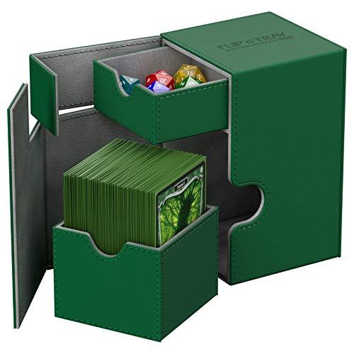 Green Ultimate Guard XenoSkin 100 Flip n Tray Deck Dice Case Protector