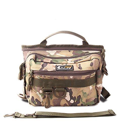 Ilure Fishing Bag Portable Outdoor Fishing Tackle Bag Fishing Gear Storage