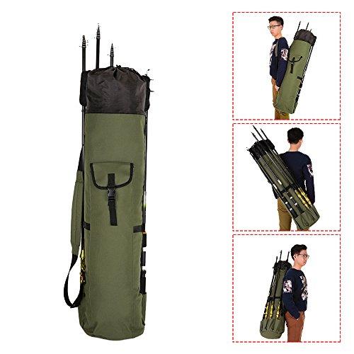 Large Fishing Rod Case Portable Folding Fishing Reel Organizer Holder Pole Tools Storage Bags Fishing Gear Tackle