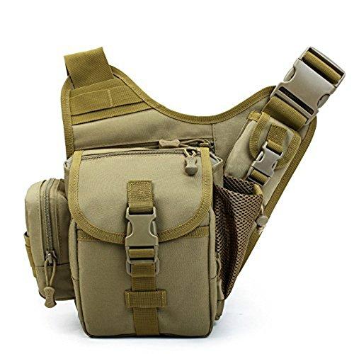 Unuber Sports Shoulder Bag Fishing Tackle Storage Bag Messenger Bag Shoulder Diagonal Bagcolor random delivery