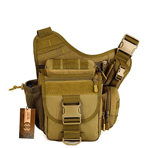 DYJ Multi-functional Tactical Messenger Bag Fishing Tackle Bag Molle Military Bag Shoulder pack Assault Gear Sling Pack EDC Camera Bags Crossbody Backpack