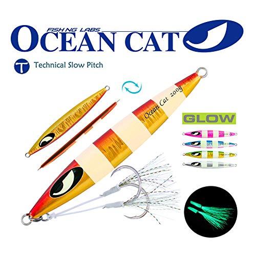 OCEAN CAT Deep Water FastSlow Glow Metal Lead Jig Jigging Fishing Lures Baits Tackle 60g80g150g200g250g 240lb