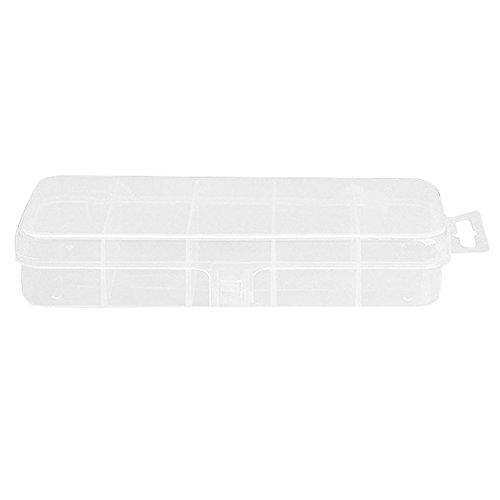 Zeroyoyo Mini 5 Compartments Waterproof Hook Bait Storage Fishing Lure Case Fly Boxes Tackle Storage Box CaseWhite